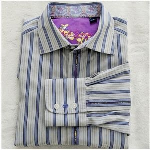 Robert Graham Blue Stripe Shirt